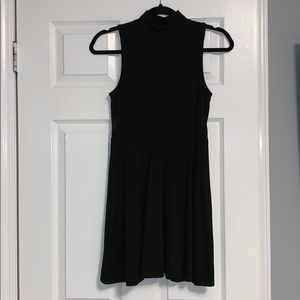 Black skater style fit and flare dress